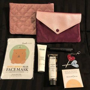 5 IPSY products with 2 Valentines bags 1 Bag Charm